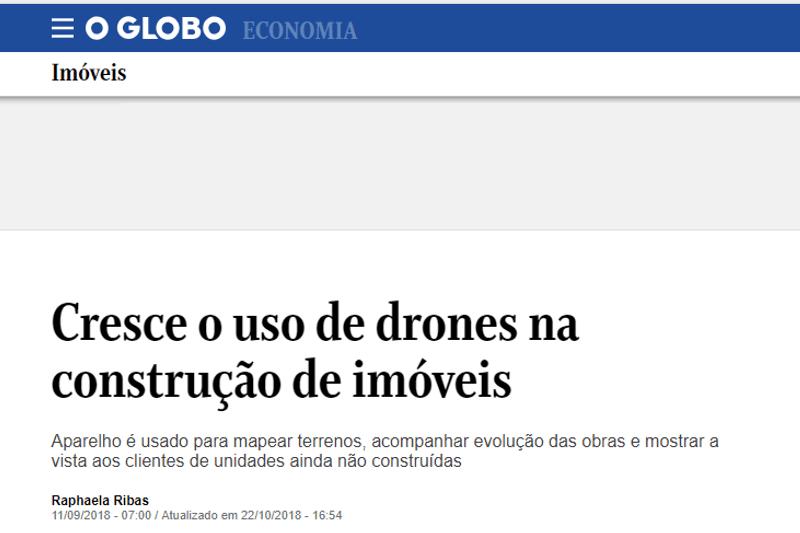 Capa Tem drone na obra