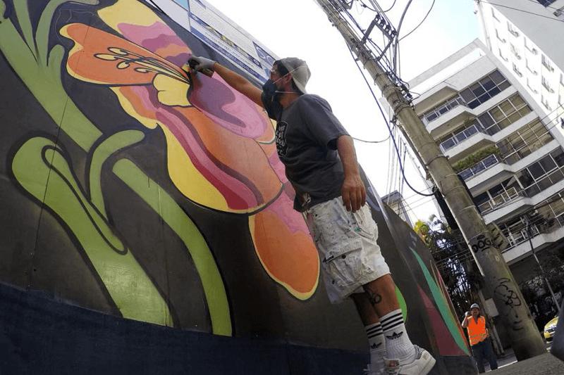 Capa Grafiteiro Marcelo Lamarca colore o Leblon